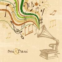 Zenés szerelem - rusztikus esküvői meghívó gramofonnal