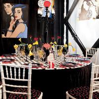 Újhullámos dekoráció, avagy esküvő a pop-art jegyében