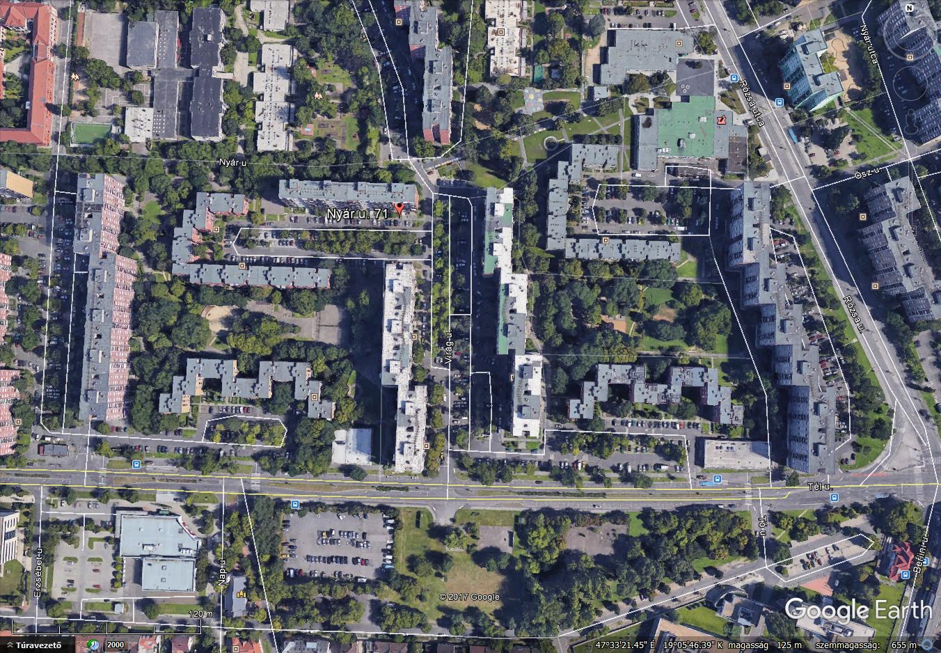 A Google Earth-ön ma így néz ki