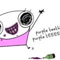 A borsznob is mosolyoghat: viszlát, lila fogak