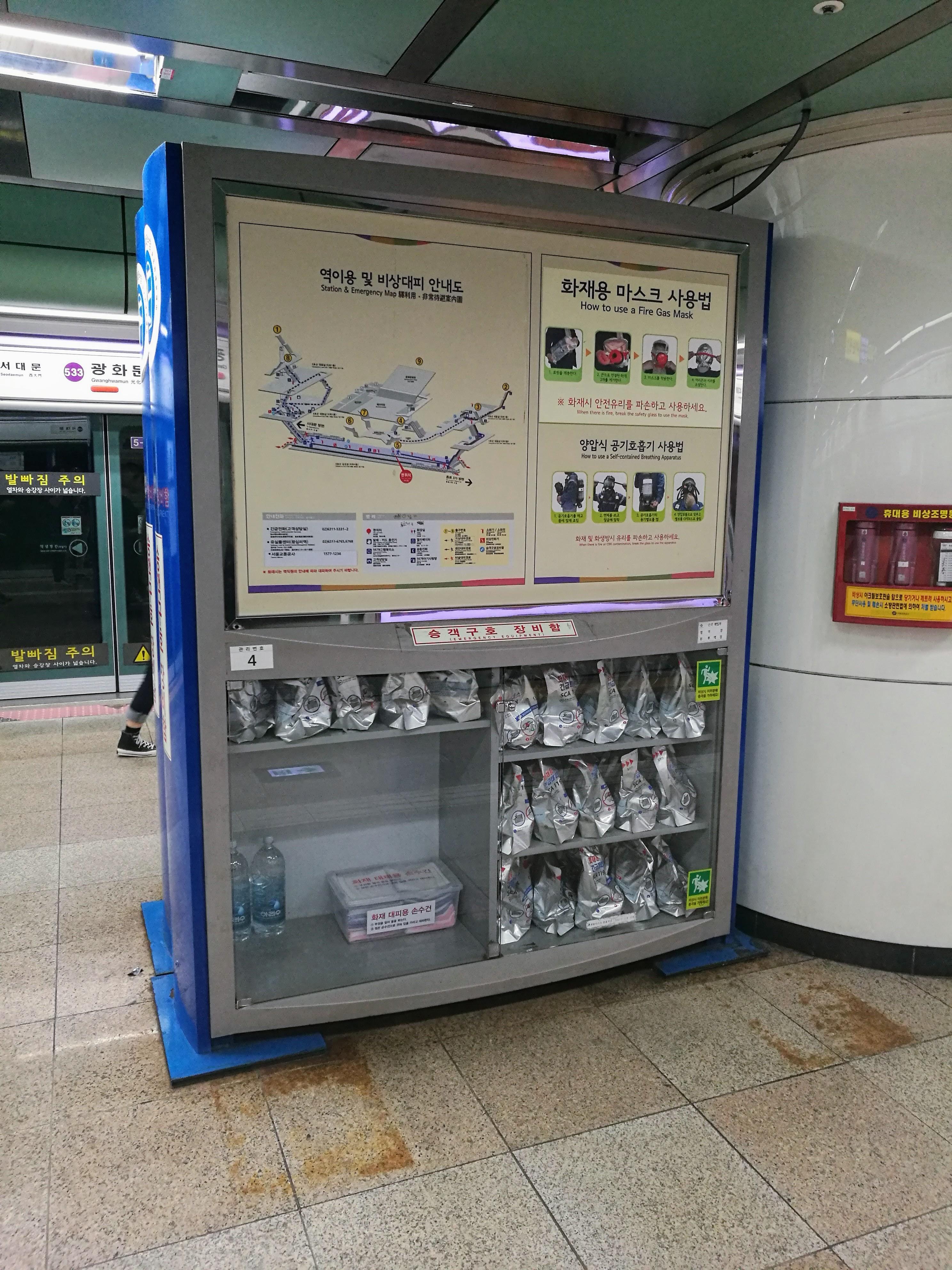 Vészhelyzet esetére gázmaszkok és egyéb felszerelés minden metróállomáson van, mivel a metró egyben menedékhelyként is szolgál légitámadás esetére. Ezt nem most vezették be.