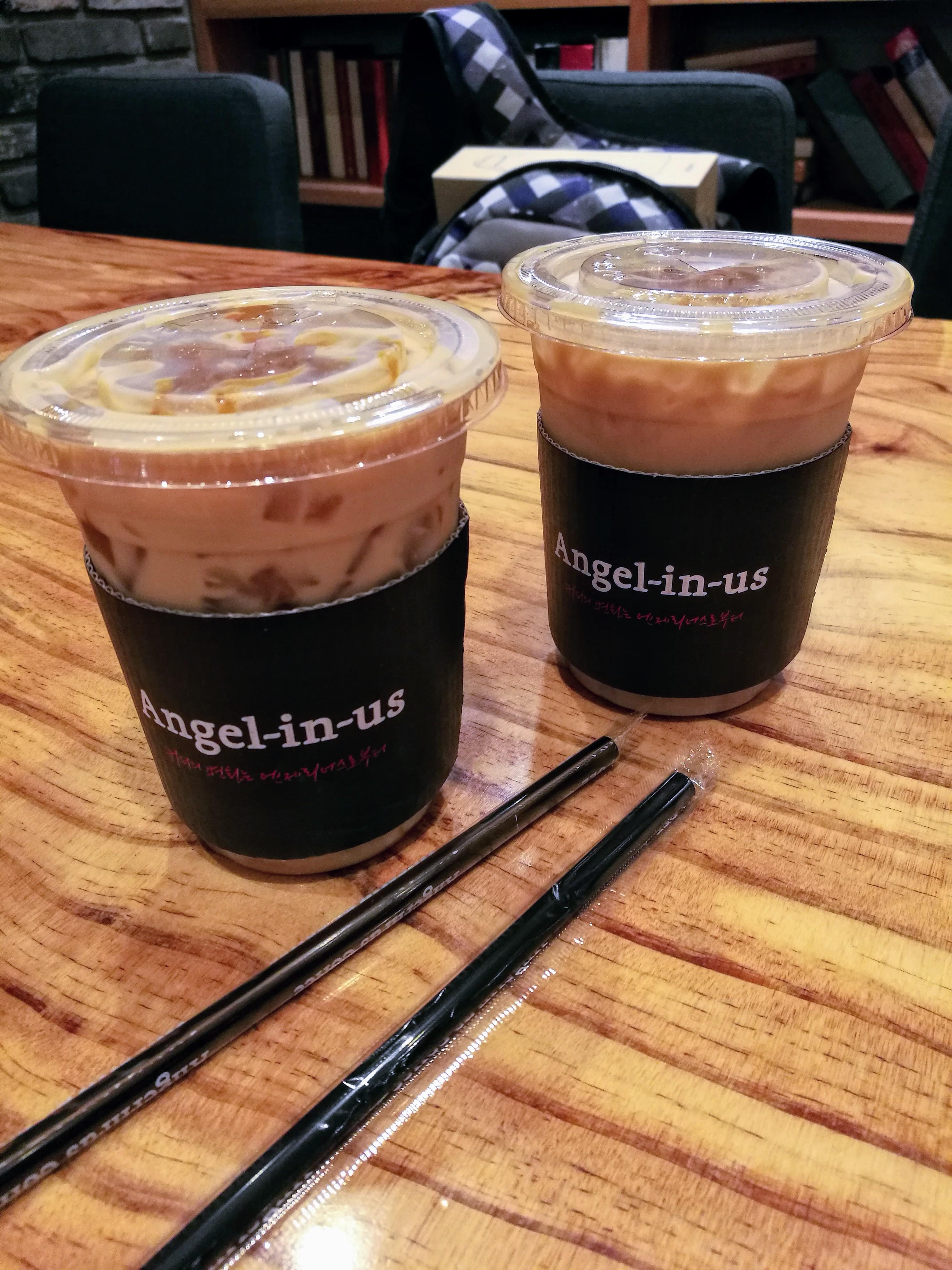 Kávé. Isteniek Koreában a kávék. Iszonyúan függő lettem!