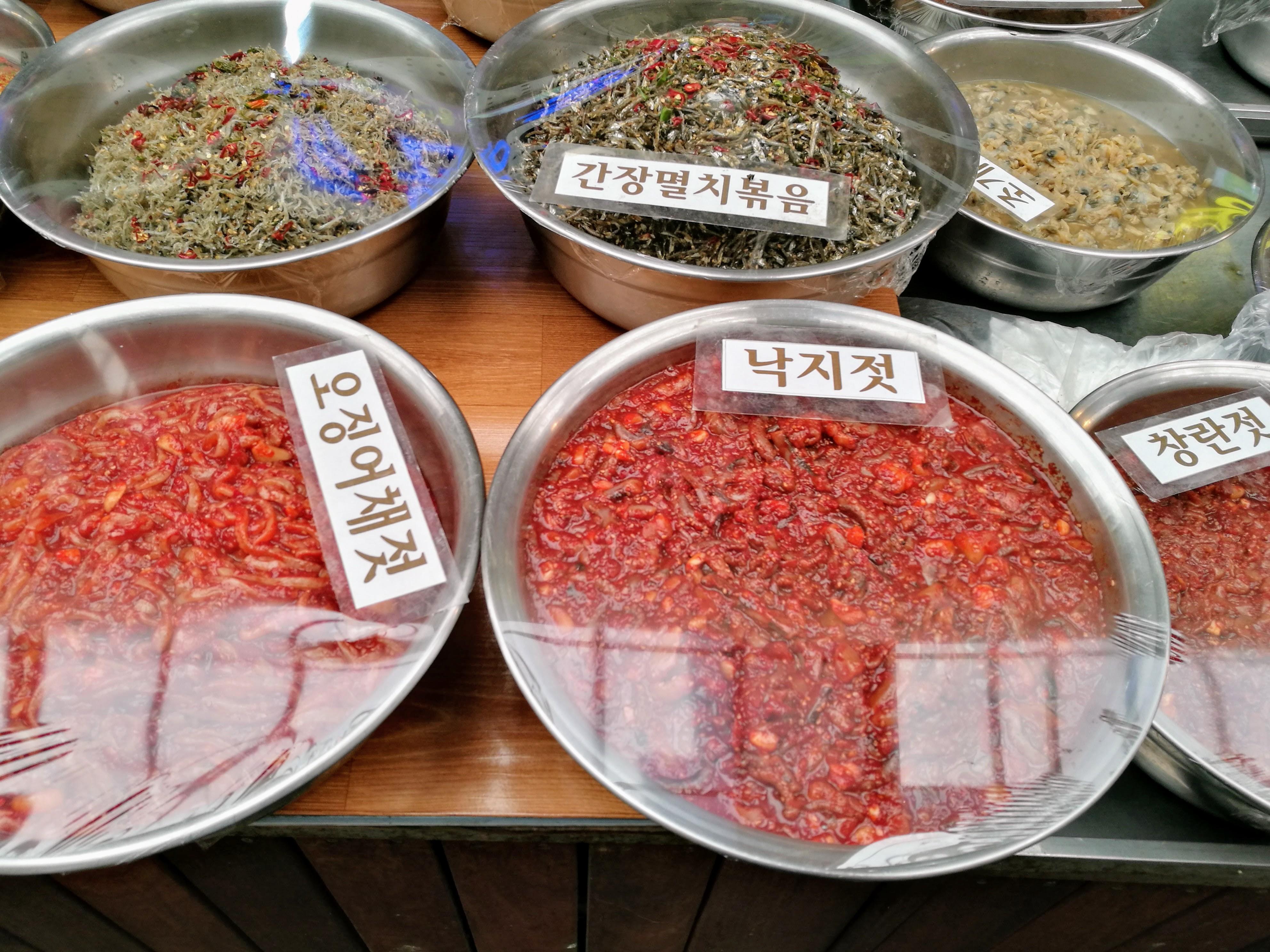 Koreai piac; fermentált ételek