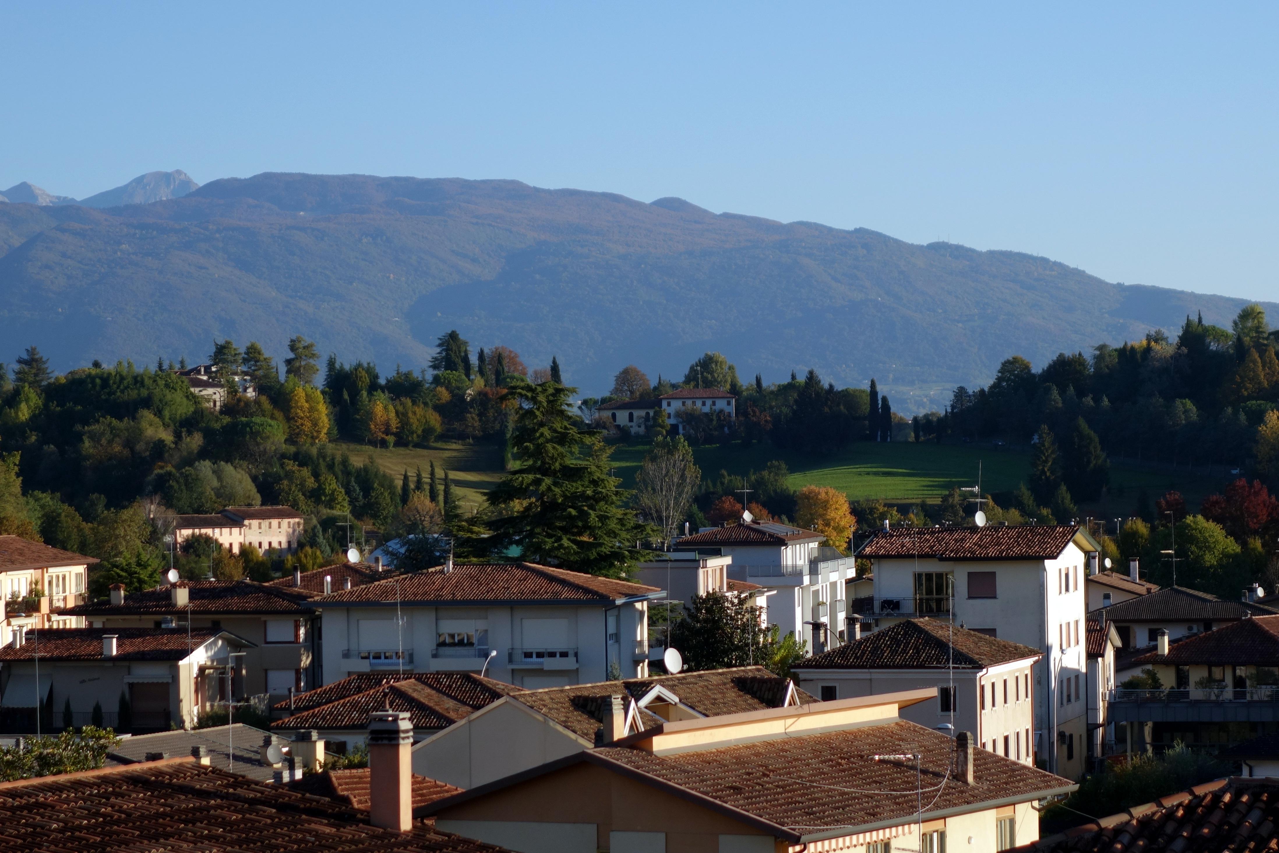 Conegliano, kilátás a teraszról