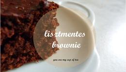 Lisztmentes Bögrés Brownie