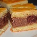 Csokoládépudingos-meggyes pite
