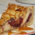 Almás-szilvás pite karamell öntettel