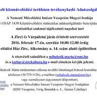 NMI - Szakmai tájékoztató - közművelődési statisztika