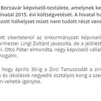 Újra meghiúsult az alpolgármester választás Zircen