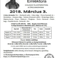 2018. évi Reguly Antal Emléktúra