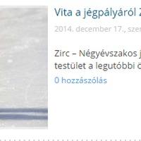 Vita a jégpályáról Zircen