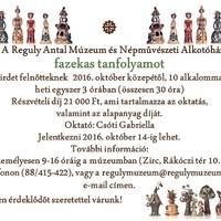 Fazekas tanfolyam a Reguly Antal Múzeumban