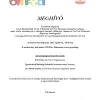 Ovi-Foci - meghívó