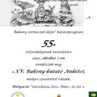 XV. Bakony-kutató Ankét meghívó