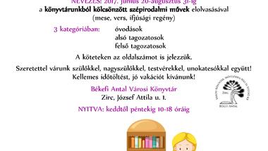 Legyen mindenkinek saját polca a könyvtárban! - Olvasópályázat