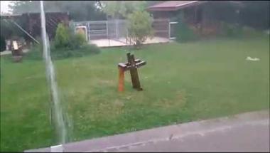 A szerdai vihar első tíz perce...