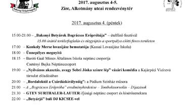 XIX. Bakonyi Betyárnapok - Zirc, 2017. augusztus 4-5.