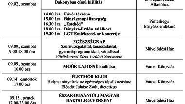 A Békefi Antal Városi Könyvtár, Művelődési Ház és Stúdió KB szeptemberi programajánlója