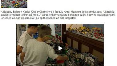 Egyre többen látogatják - a LEGO  kiállítás a Veszprémi TV-ben