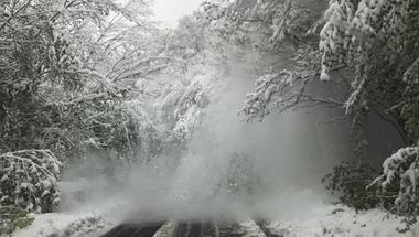 Áprilisi hóhelyzet , teljes útlezárás a 82-esen - fotók
