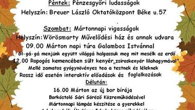 Pénzesgyőri búcsú 2017. november 10-11-12.
