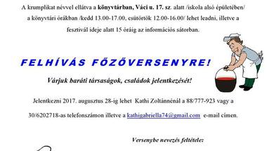 XV. Bakonyi Krumpliszüreti és Művészeti Fesztivál - Olaszfalu, 2017. szeptember 2.