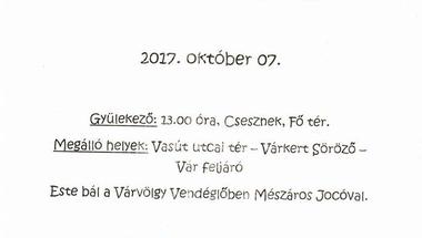 XII. Cseszneki szüreti felvonulás és bál - 2017. október 7.