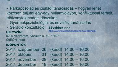 Pszichológus tanácsadás - ingyenes/Veszprémben