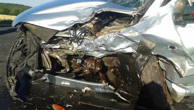 Motor és személygépkocsi ütközött - 2017.07.29.