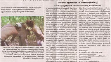 Az Istenkas Egyesület az Erdővidéki Hírlapban