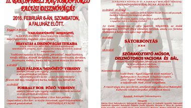 Pálinka-minősítő-,  forralt bor főző verseny, disznótor, programok - Bakonybélben