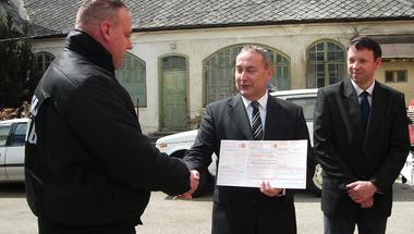 Helyi Fidesz-támogatás a zirci tűzoltóságnak