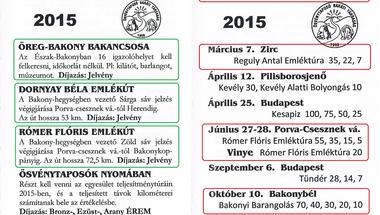 Az Ösvénytaposók 2015-ös programja - túrák a Bakonyban és máshol