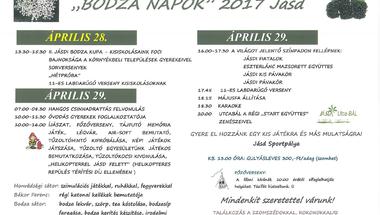 Bodza-napok (Jásd) 2017. április 28-29.