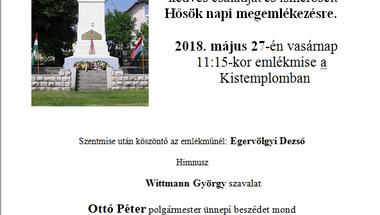 Átadják a felújított emlékművet a Hősök-napi megemlékezésen