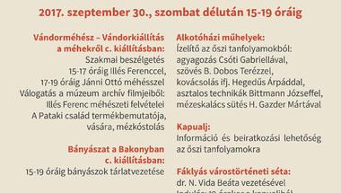 Múzeumi program- A Nagy Szakkörválasztó avagy Szent Mihály napi családi nap