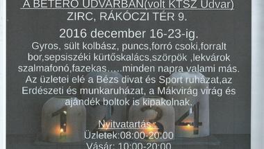 Kézműves adventi vásár - Zirc, 2016. dec.16-23.