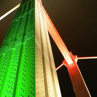 Az Erzsébet híd díszkivilágítása