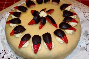 Vaníliakrémes meggylekváros vegán torta