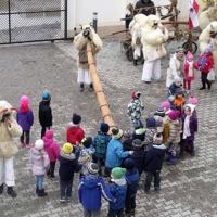 Busójárás a mohácsi Szent Ferenc Katolikus Óvodában