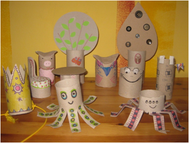 A WC-papír guriga állatok közül a polip és a béka kapcsolódik a jeles naphoz Kép forrása: Zöld-Híd Alapítvány