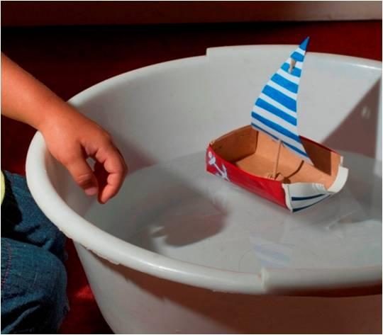 Hajó, csónak hulladékból (tejes dobozból) 3. Kép forrása: Zöld-Híd Alapítvány