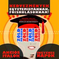 Akció EGYETEMISTÁKNAK ÉS FŐISKOLÁSOKNAK!