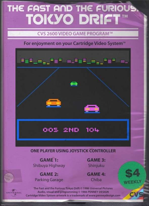 Atari 2600 The Fast And the Furious
