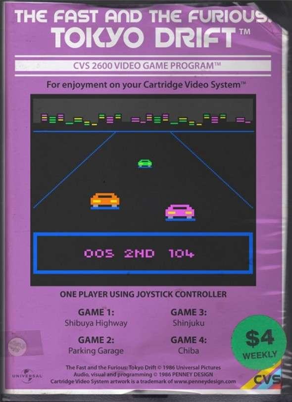 Atari 2600 The Fast And the Furious