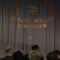 25 éves a Zrínyi Miklós gimnázium