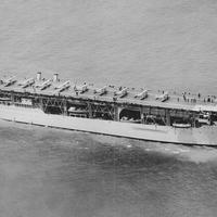 Amerika első repülőgéphordozója, a USS Langley