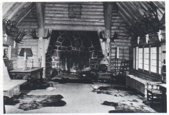 Az eredeti vadászház belseje