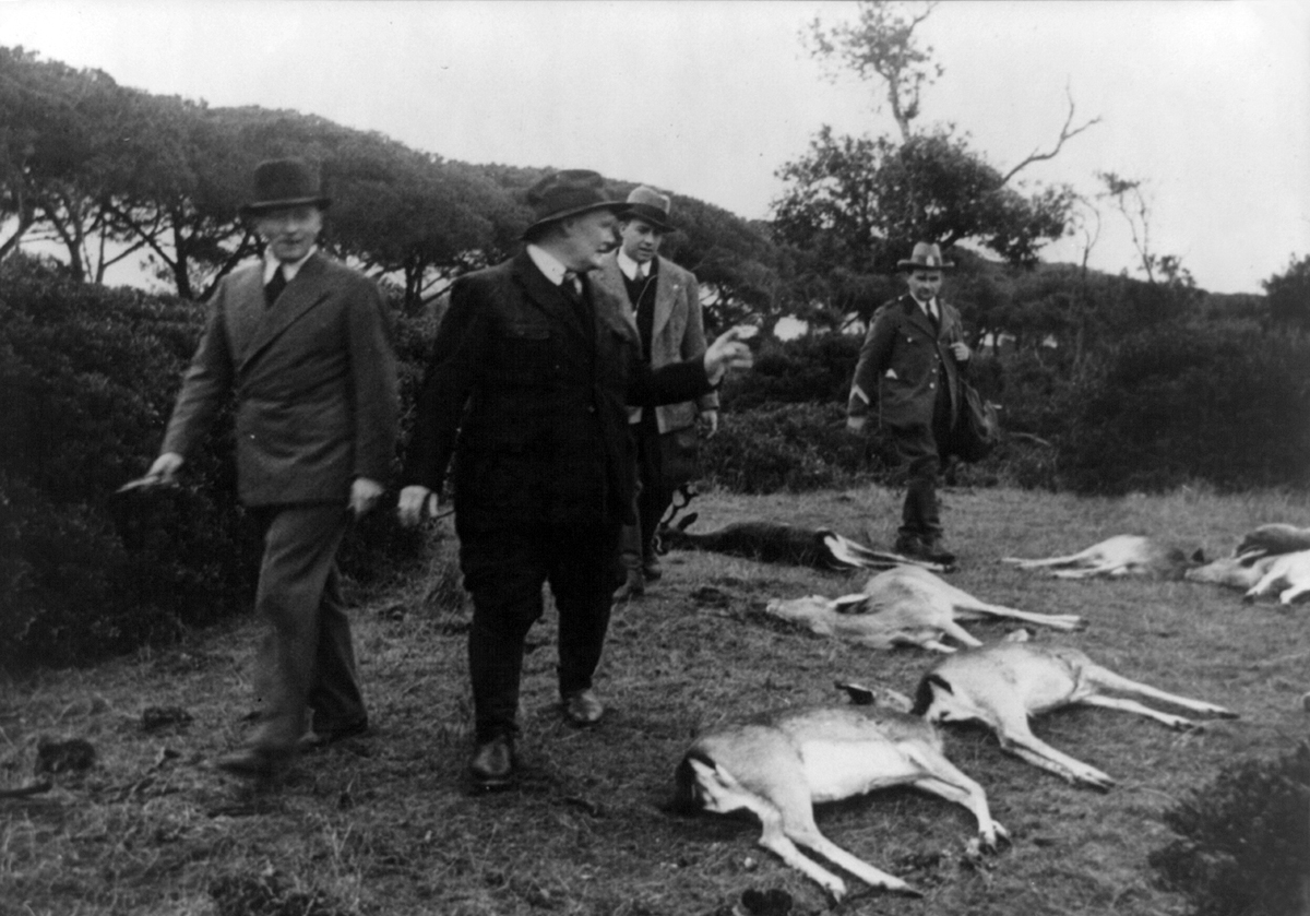 Hermann Göring vendégvadászaton Róma közelében 1937-ben