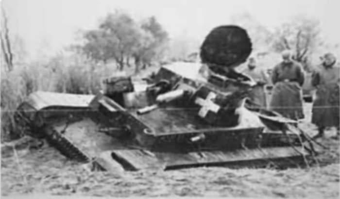 Elakadt Panzer 35(t)